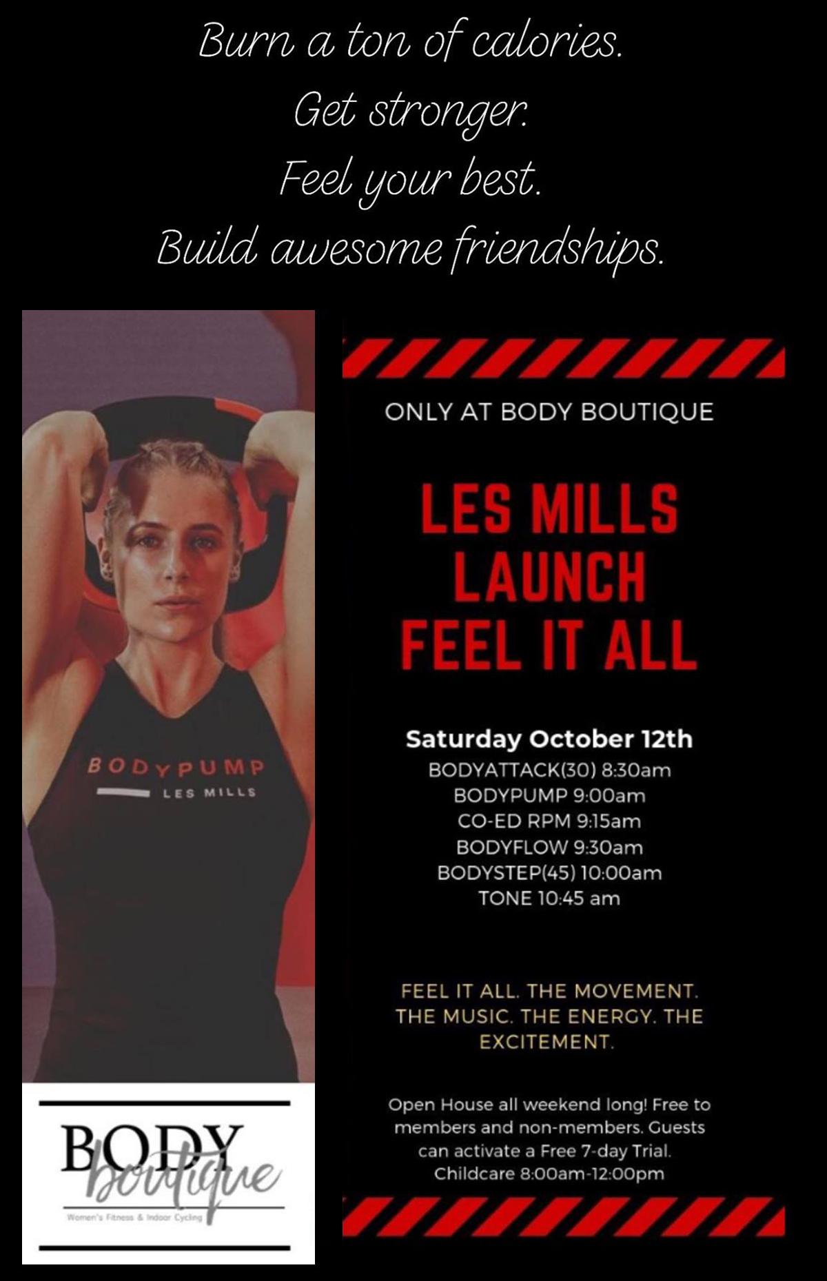 Les Mills Class Launch - October 12th, 2019