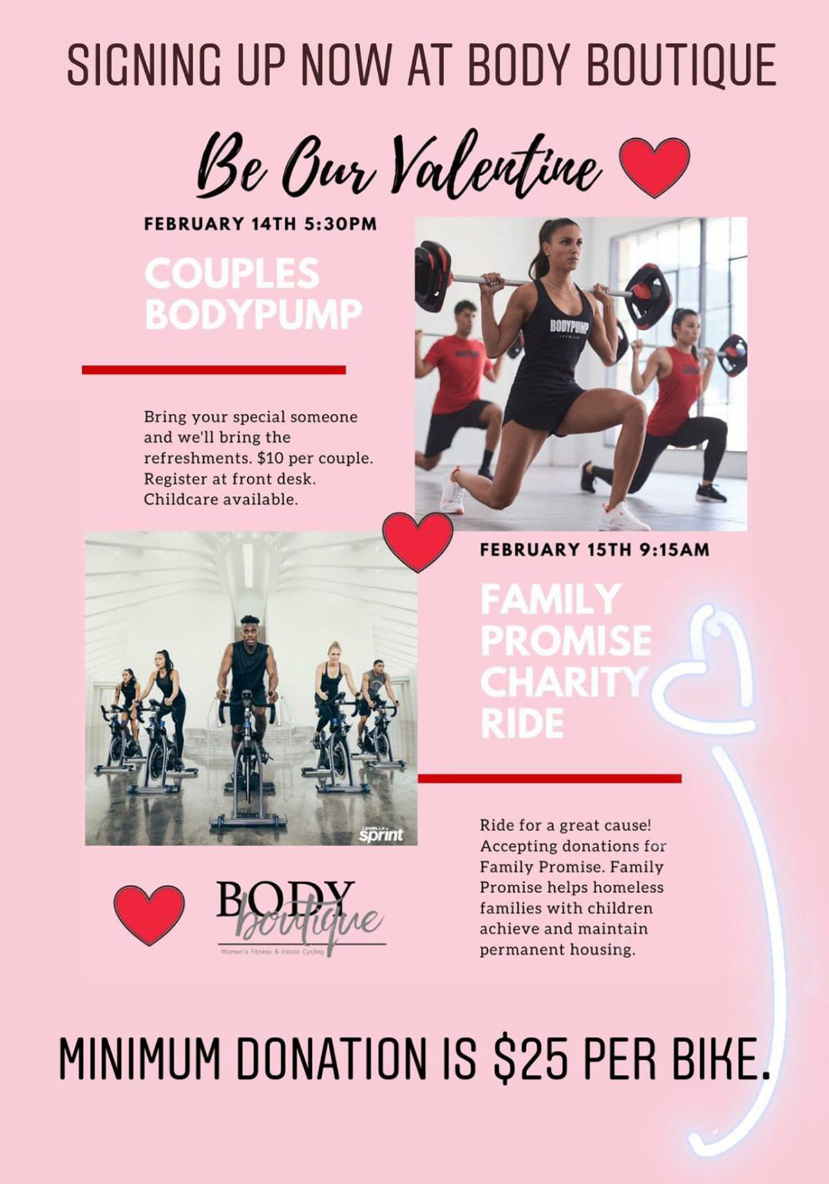 Couple BodyPump & Family Promise Charity Ride