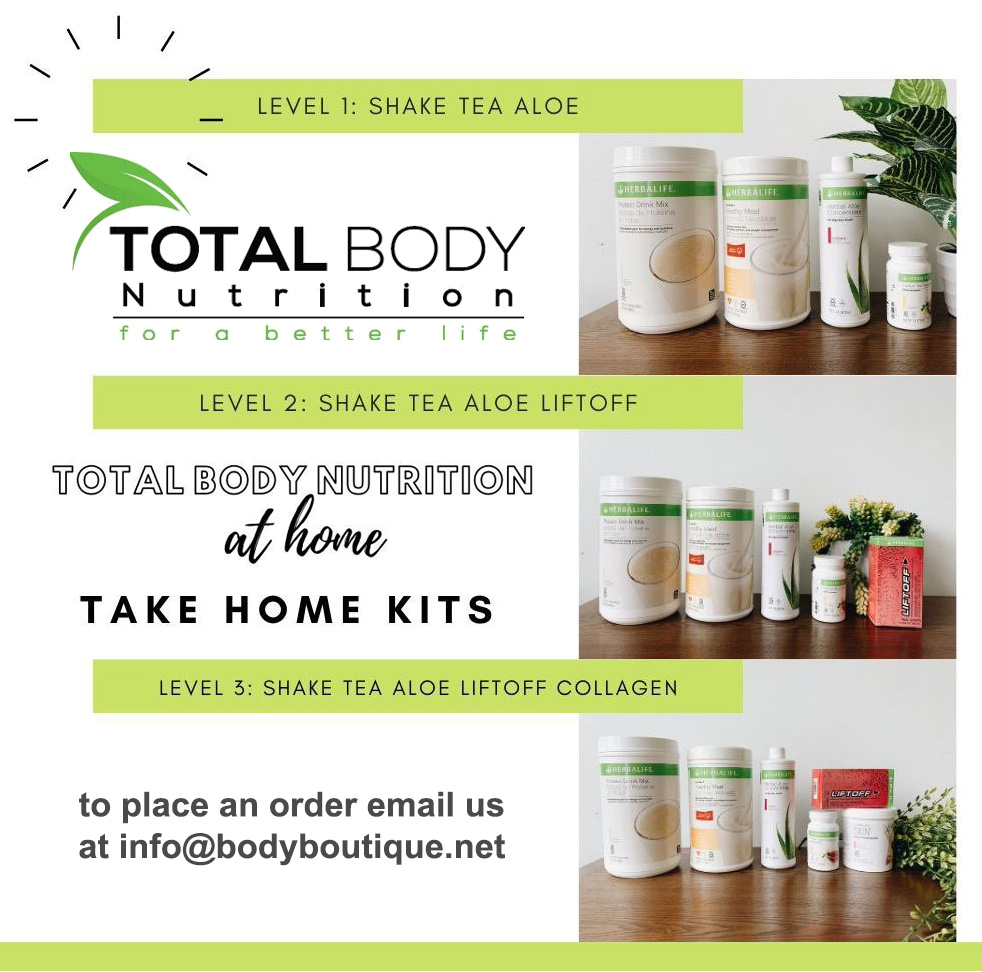 Total Body Nutrition Take Home Kits