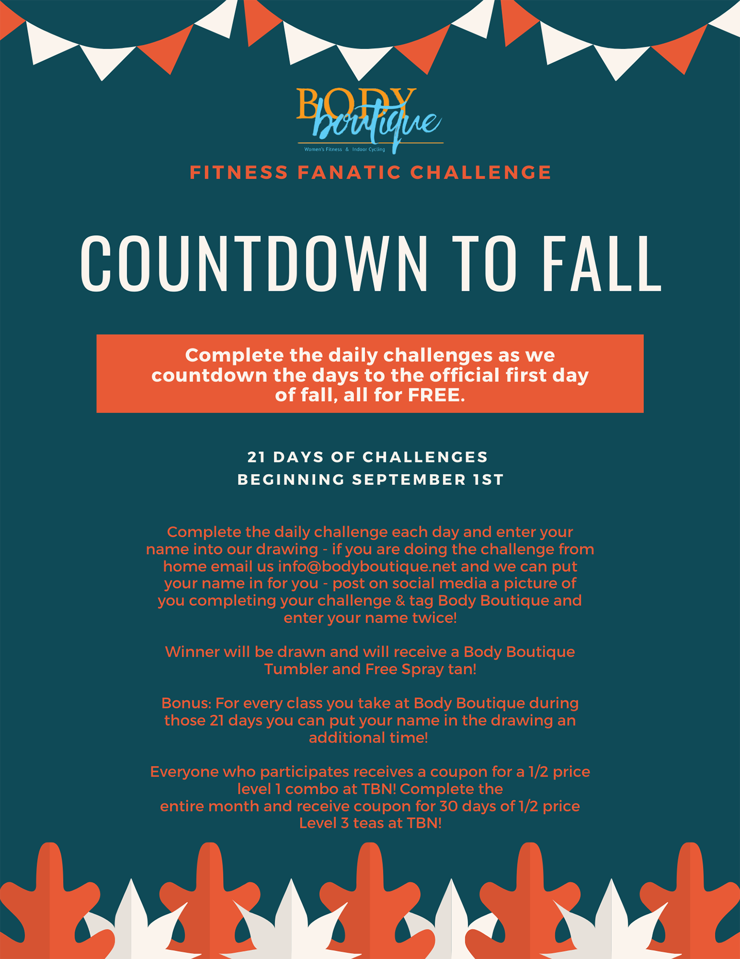 Countdown to Fall Challenge Flyer