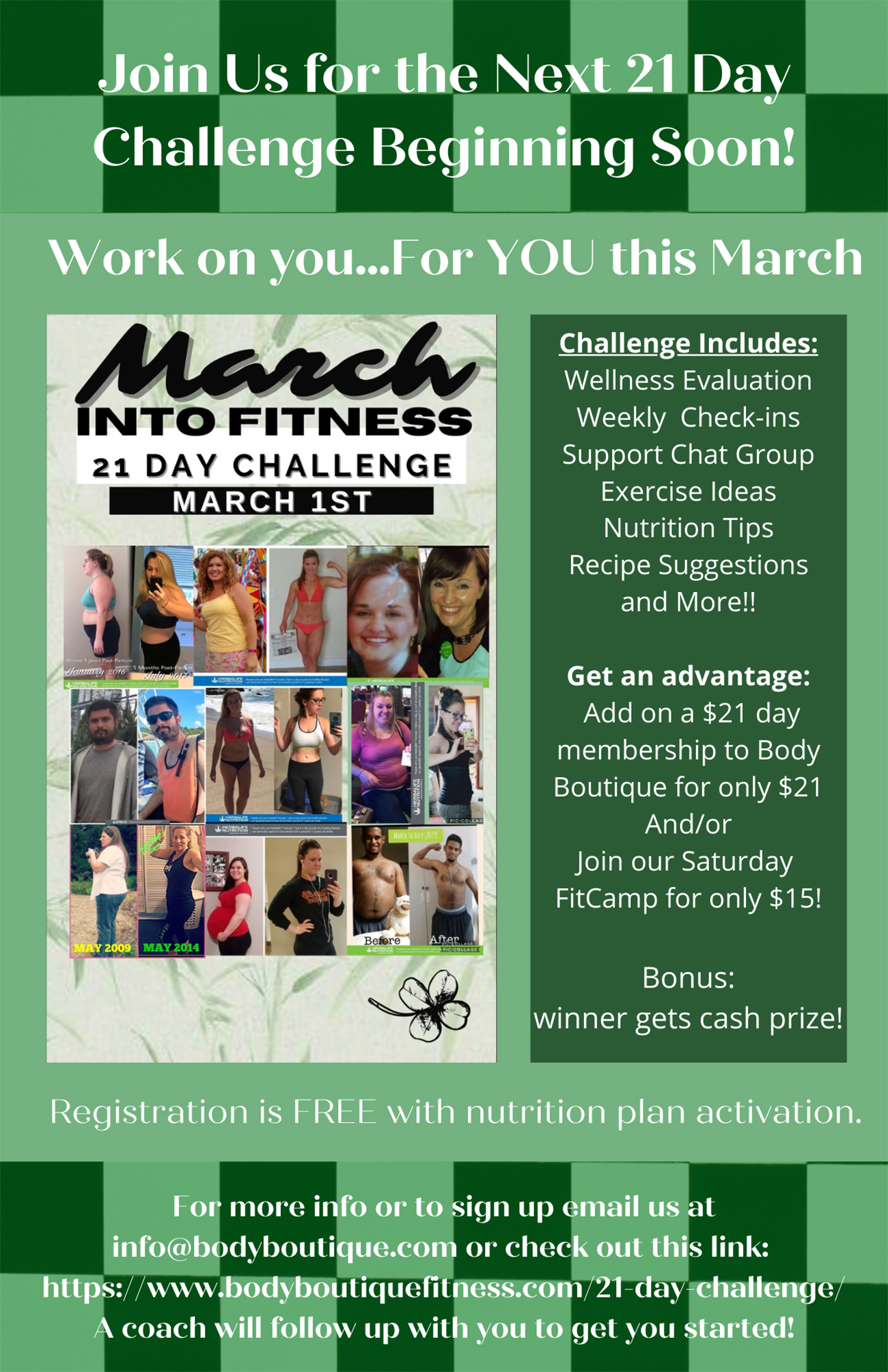 March Into Fitness 21-Day Challenge