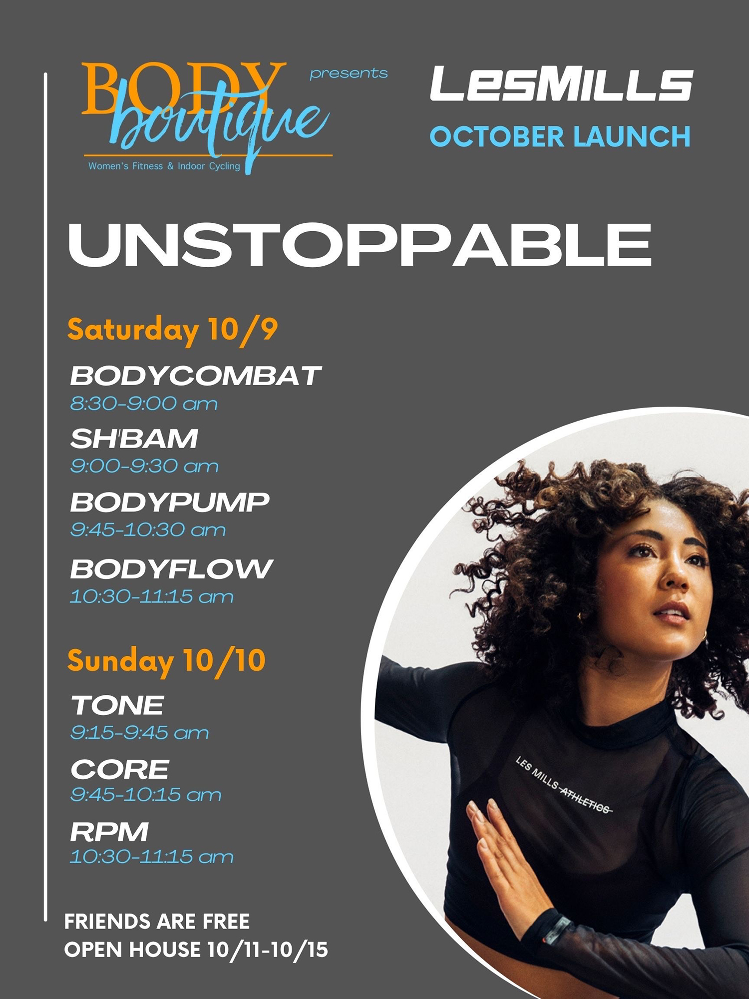 Body Boutique Fitness Les Mills Class Launch October 2021